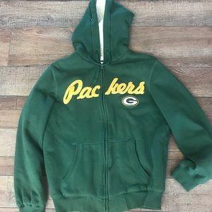 NFL Green Bay packers ladies zip up hoodie
